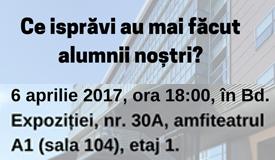 Reuniune absolvenți și prieteni FCRP - 6 aprilie, ora 18:00