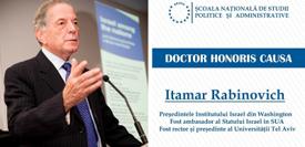 """Decernare """"Doctor Honoris Causa"""" profesorului Itamar Rabinovich, 28 aprilie, 17.00"""