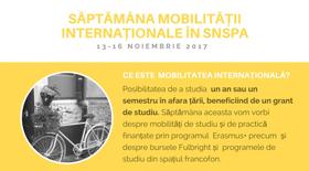 Săptămâna mobilității internaționale în SNSPA ,  13-16 noiembrie 2017