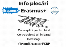 Sesiune de informare: Erasmus+, joi 22.02, ora 14.00, sala 307