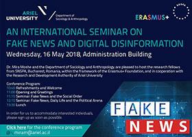 """Seminar Internațional """"Fake news și dezinformare digitală"""" , 16 mai a.c."""