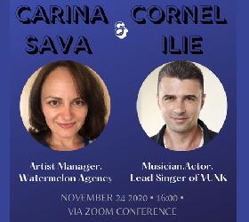 CEMtalks - Carina Sava și Cornel Ilie - marți 24.11, ora 16, ZOOM
