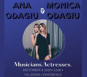 CEMtalks - Ana și Monica Odagiu marți 8.12, ora 12:00, via ZOOM