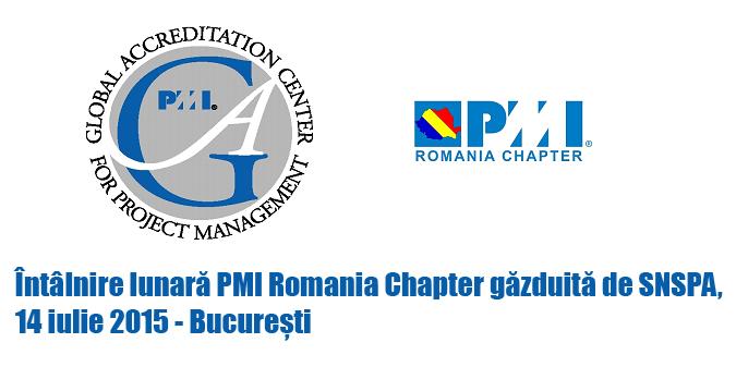 Întâlnire lunară PMI Romania Chapter